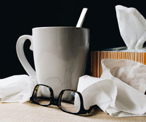 Tea Cup and Tissues